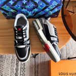 The Virgil Abloh Louis Vuitton LV Trainer Sneaker Boot #54 Black Grey
