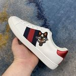 Gucci Ace Dog Cat Low Top Sneaker shoes