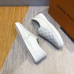 V casual loafers white shoes