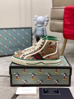 Disney x Gucci Tennis 1977 'Mickey Mouse' hight top Sneakers/Shoes
