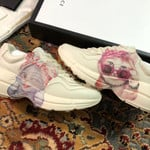Gucci Rhyton With Mystic Cat White Pink sneakers