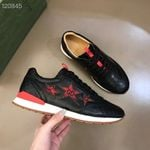 Shoes Gucci New Ace Star Black Low-Top Sneaker