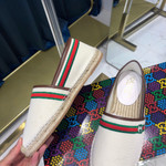 Gucci high-end classic fisherman shoes  white