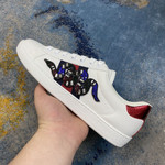 Shoes Gucci Ace Embroidered black Snake white sneaker