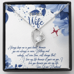 To My Wife You're My Life Forever Love Necklace Gift