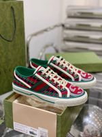 Shoes Gucci Tennis 1977 green red sneaker