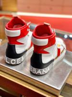 Dolce &Gabbana Calfskin Custom 2.Zero high-top sneakers with contrasting details
