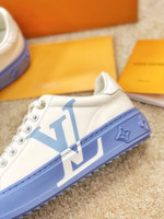 Shoes LV 2021 white trainer sneaker blue soles