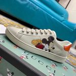 Shoes Disney x Gucci Wmns Ace Low 'Mickey Mouse Ivory' 602129 AYO70 9591