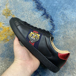 Gucci Ace Embroidered 'tiger' Black Sneakers/Shoes