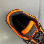 Shoes PRADA Couple Models black x orange