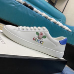 Gucci Womens WMNS Ace 'Tennis' Sneakers/Shoes  White/White/Rio Blue 602684-AYO70-9096