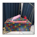 Womens Gucci Ace GG Supreme Low 'Psychedelic - Pink' Pink/Red/Multi-Color WMNS Sneakers/Shoes 610086-H2020-1115