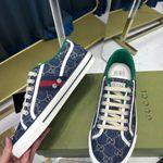 Shoes Gucci Tennis 1977 sneaker blue monogram