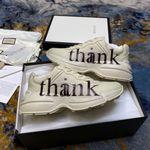 Gucci Shoes Men's 'think/thank' print Rhyton sneaker