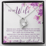 To My Wife Forever Love Necklace Birthday Gift