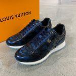 LV Louis Vuitton black trainner monogram sneakers