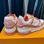 LV Louis Vuitton 2021 trainer sneaker white and orange