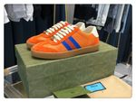 Shoes Gucci New G74 ACE orange monogram