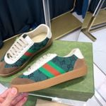 Shoes Gucci ACE stripe green and brown sneaker