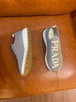 Shoes PRADA stretch fly woven fabric gray