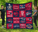 Fan New England Patriots Quilt Blanket Amazing Gift