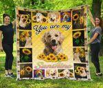 You Are My Sunshine Sunflower Labrador Quilt Blanket