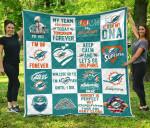Fan Miami Dolphins Quilt Blanket Amazing Fan Gift Idea