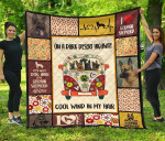 Dog On Dark Desert Hippie Van German Shepherd Quilt Blanket