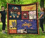 Cute Harry Potter Quilt Blanket Chibi Style Harry Potter Blanket Bedding