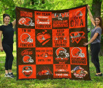 Fan Cleveland Browns Quilt Blanket Amazing Gift Idea