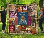 Mommy Golden Retriever Quilt Blanket