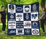 Fan Winnipeg Jets Quilt Blanket Amazing Gift Idea