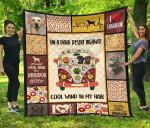 On Dark Desert Hippie Van Labrador Quilt Blanket Dog Lover