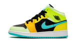 Air Jordans 1 Mid GS Aurora Green Optic-Yellow