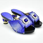 Zapatos de fiesta nigerianos para mujer, calzado de lujo con diamantes de imitación, zapatos de fiesta de boda italianos