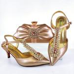 Conjunto de zapatos y bolsos de estilo especial a la moda para mujer, calzado de señora Noble y Elegangt