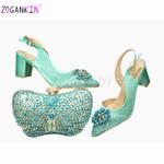 Conjunto de zapatos y bolso de verano, diseño especial, Color dorado, zapatos italianos de alta calidad para mujer