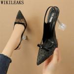 Zapatos de tacón alto para mujer, calzado de vestir, estilo fetiche, Sexy