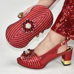 Conjunto de zapatos y bolsos italianos para mujer, zapatillas de estilo italiano de alta calidad, a juego