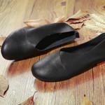 Zapatos planos de cuero para mujer, mocasines informales suaves de primavera, zapatos de dama sin taco, cómodos, sin cordones