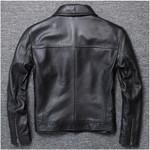 Chaqueta de cuero genuino para motociclista