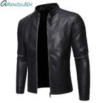 Chaqueta De cuero sintético para hombre, abrigo De motocicleta