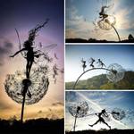 Dancing Fairy Statue Steel Wires Fairy Garden