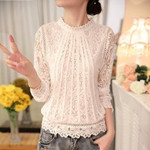 Long-Sleeved Blouse With Lace