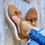 Birkenstock Women's Casual Orthopedic Arch-Support Lightweight Platform Flat Comfort Fringe Shoes