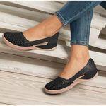 Birkenstock Women Wedges Orthopedic Hollow Out PU Summer Vintage Sandals