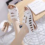 Birkenstock Women Hollow Sandals Breathable Hook Loop Open Toe Summer