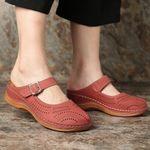 Birkenstock Hollow Out Open Heel Casual Wedges Sandals