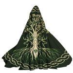 Gearhumans 3D Celtic Goddess Wiccan Custom Hooded Cloak